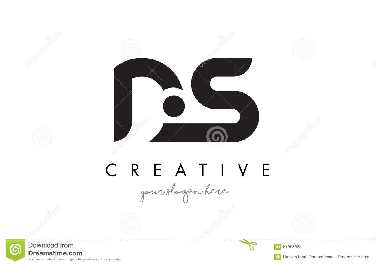 ds letter logo design with creative modern trendy