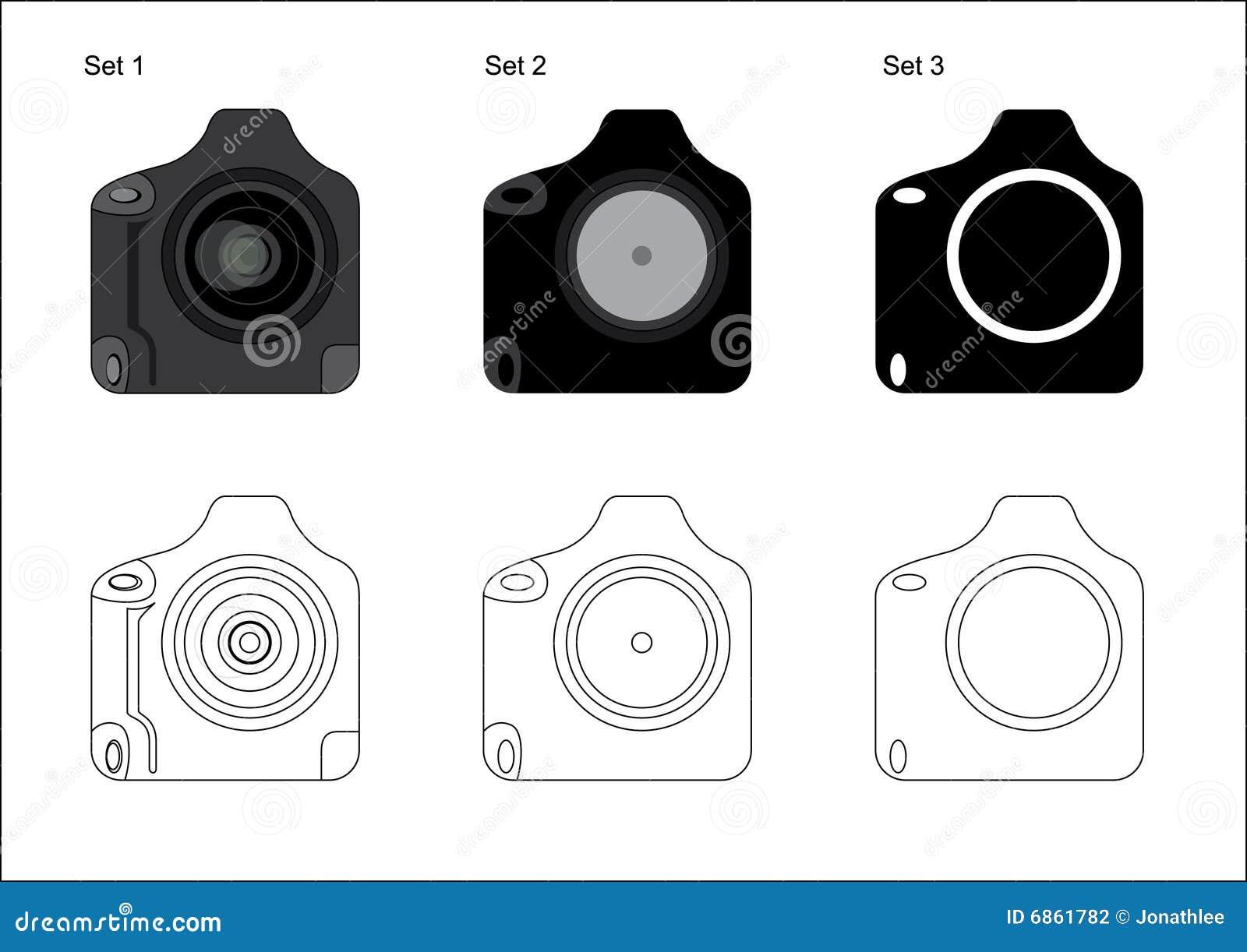 照相机dslr图标专业人员图片
