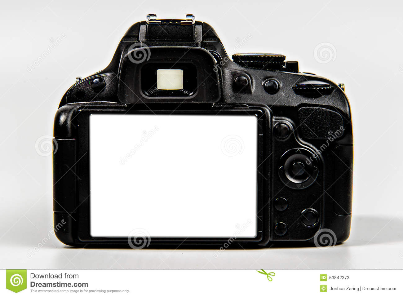 DSLR Camera With Blank Screen For Placement Stock Photo - Image ...