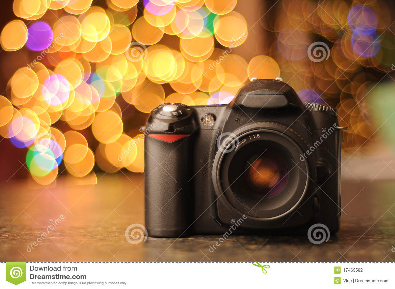Dslr Camera With Bokeh Background Stock Photo Image Of Countertop