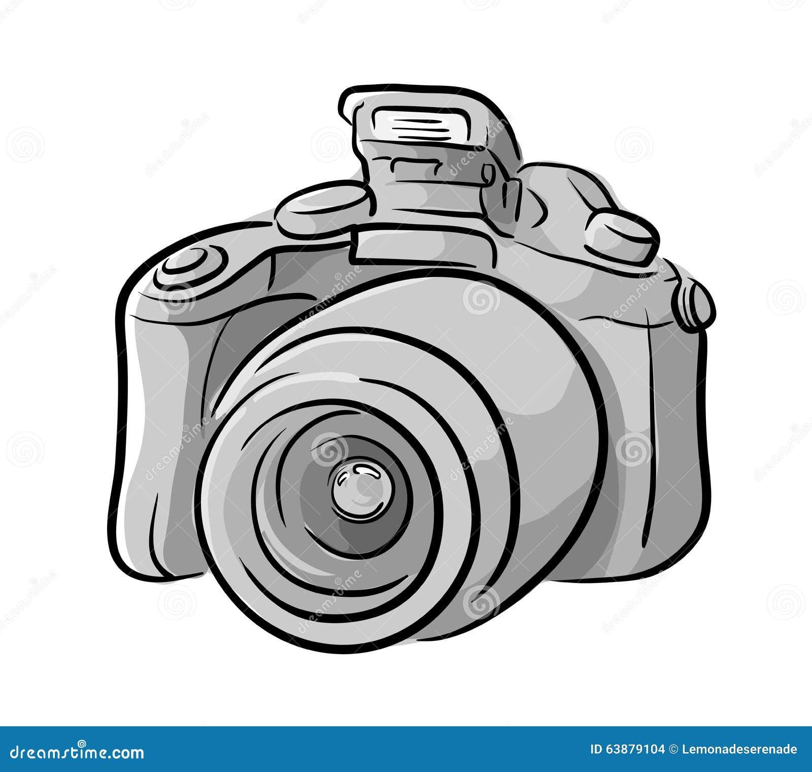 Line Art Vector Illustrator : Dslr camera stock vector illustration of flat gadget
