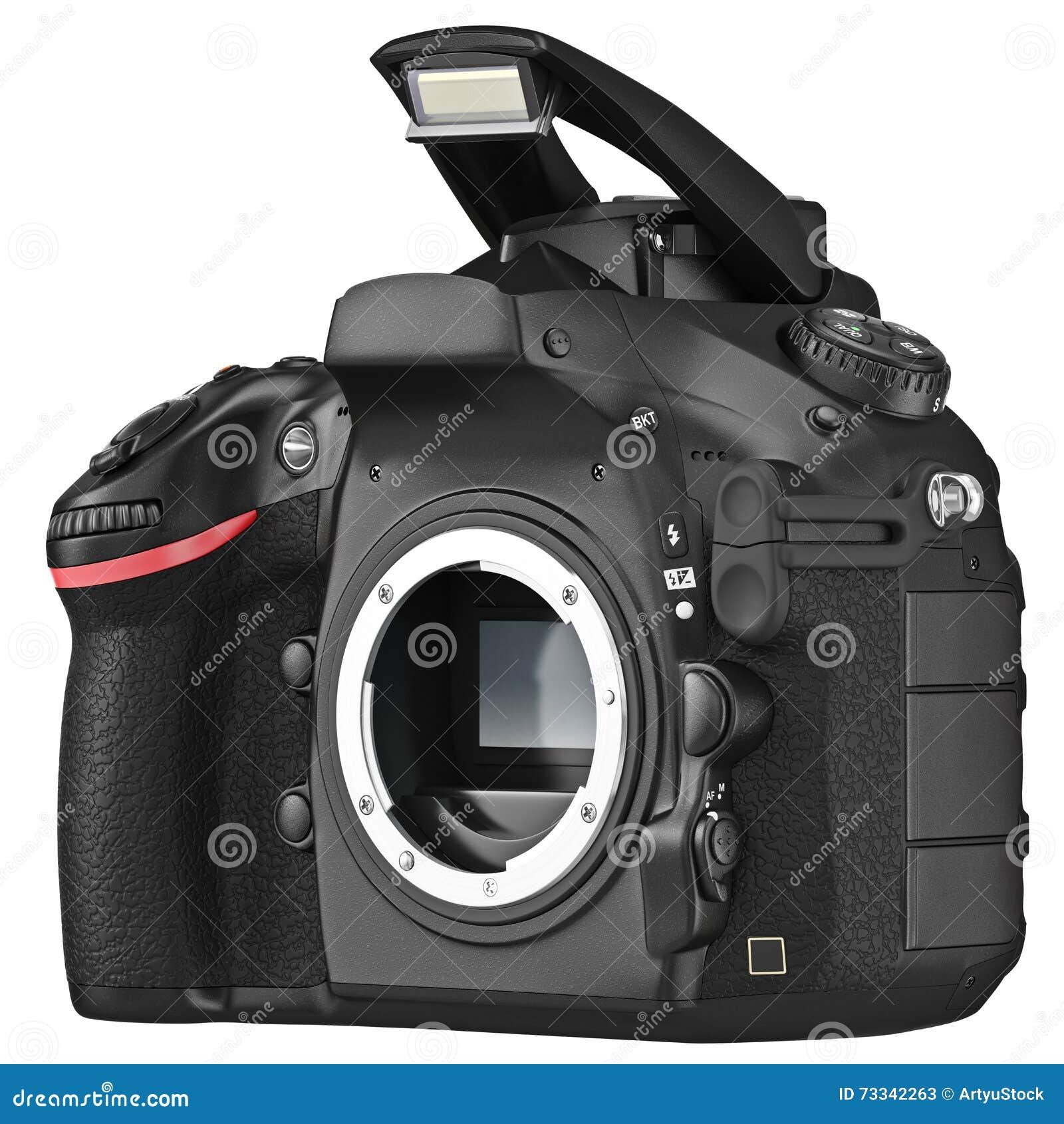Camera Dslr Camera Without Lens dslr camera without lens open flash stock illustration image flash