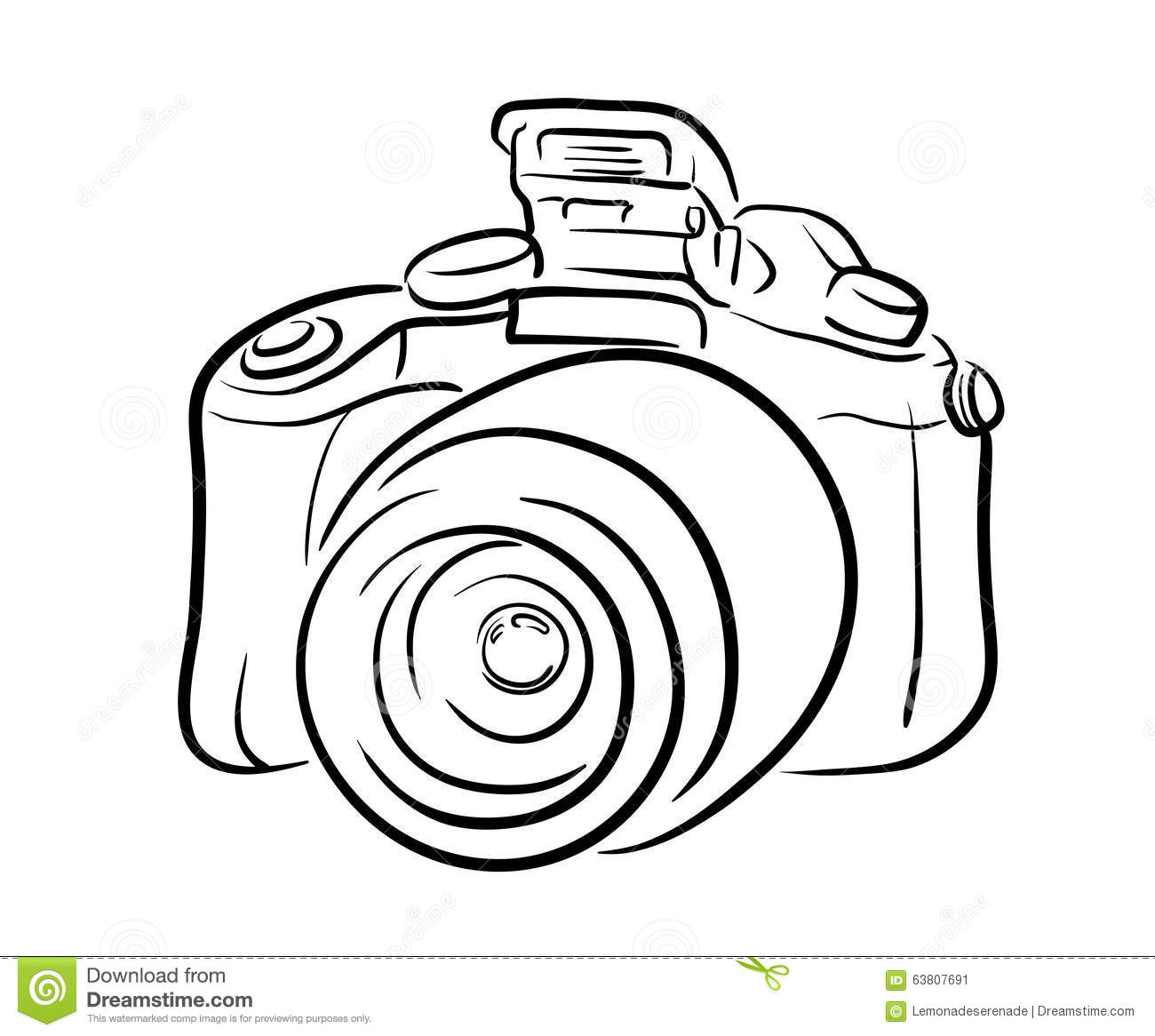 Line Drawing Vector Graphics : Camera line icon solid vector illustration linear