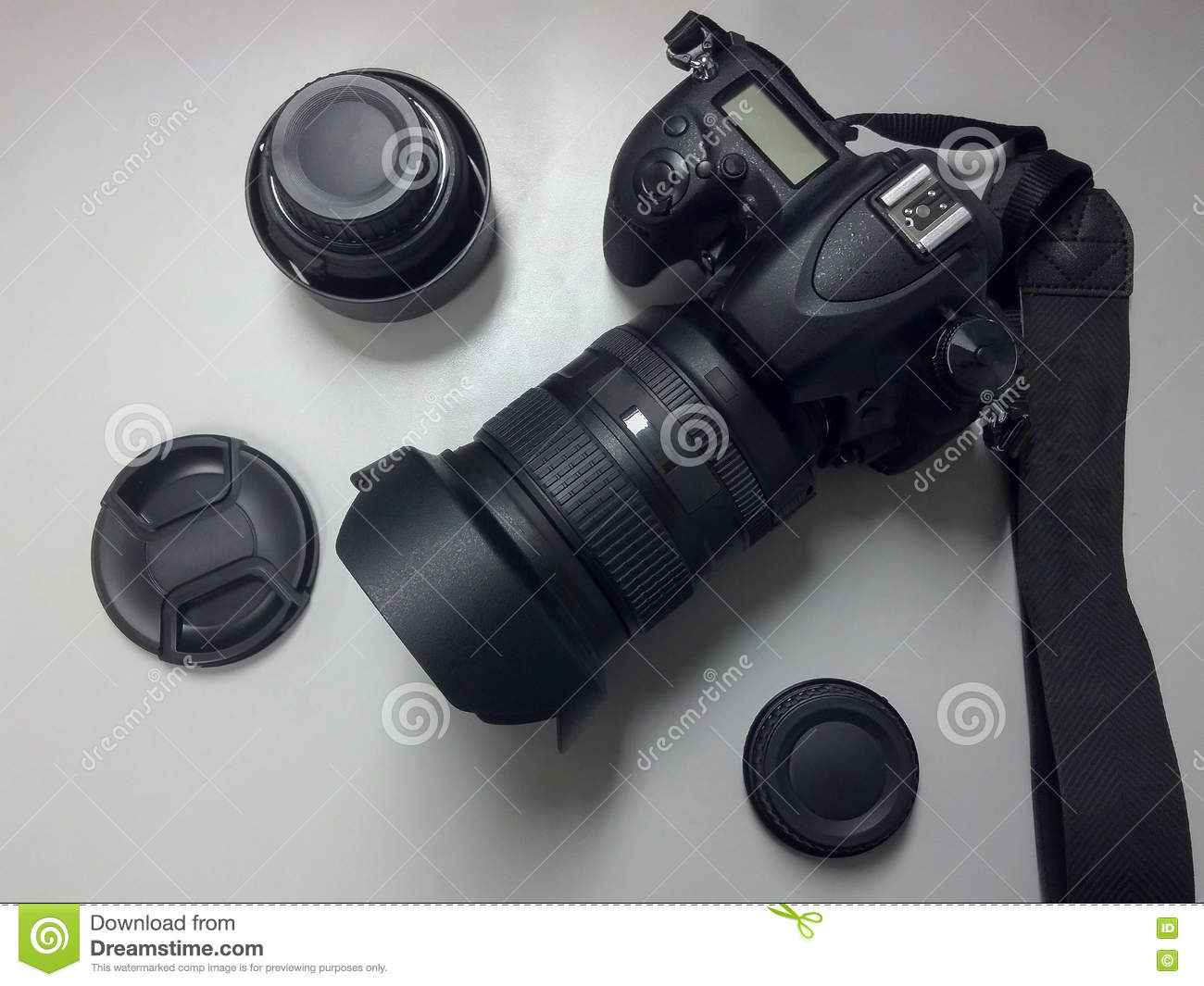 Camera Accessories For Dslr Cameras dslr camera top view with lens and accessories stock photo image accessories