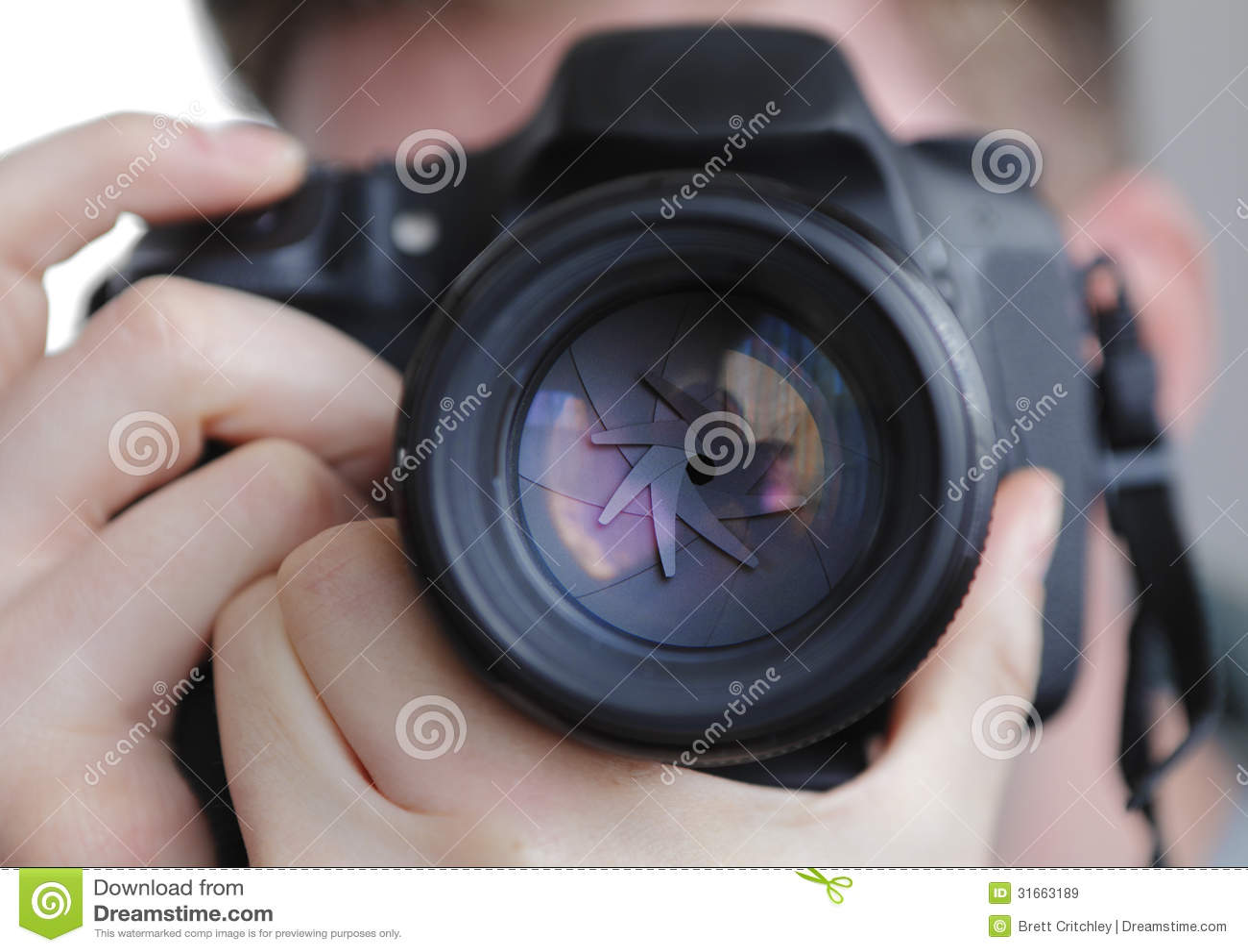 DSLR kamery obiektywu żaluzja