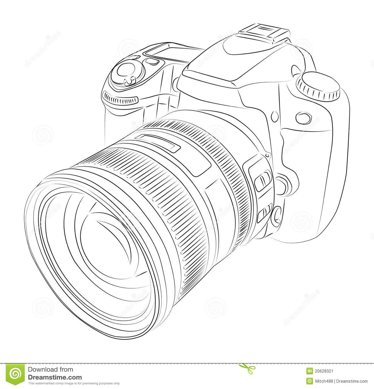 dslr with lens stock vector  illustration of focus  photo