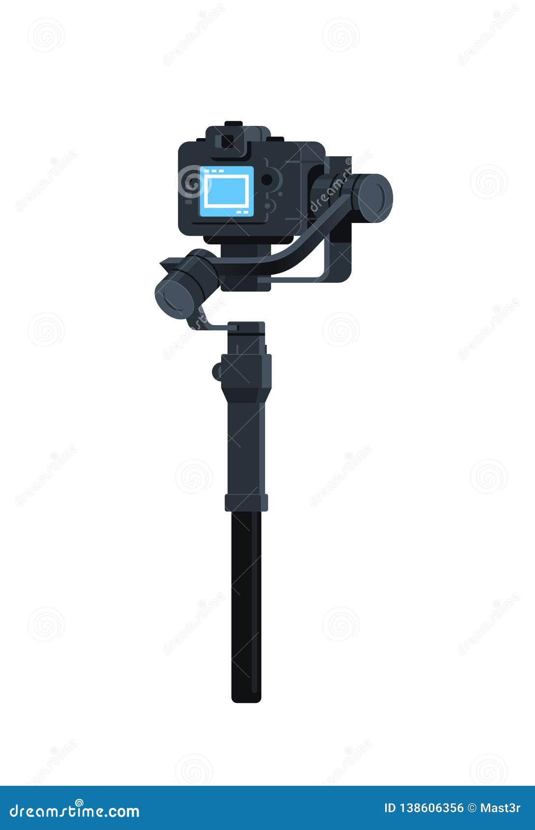 DSLR mirrorless照相机反震动工具纪录录影场面概念被隔绝的垂直的动力化的常平架安定器