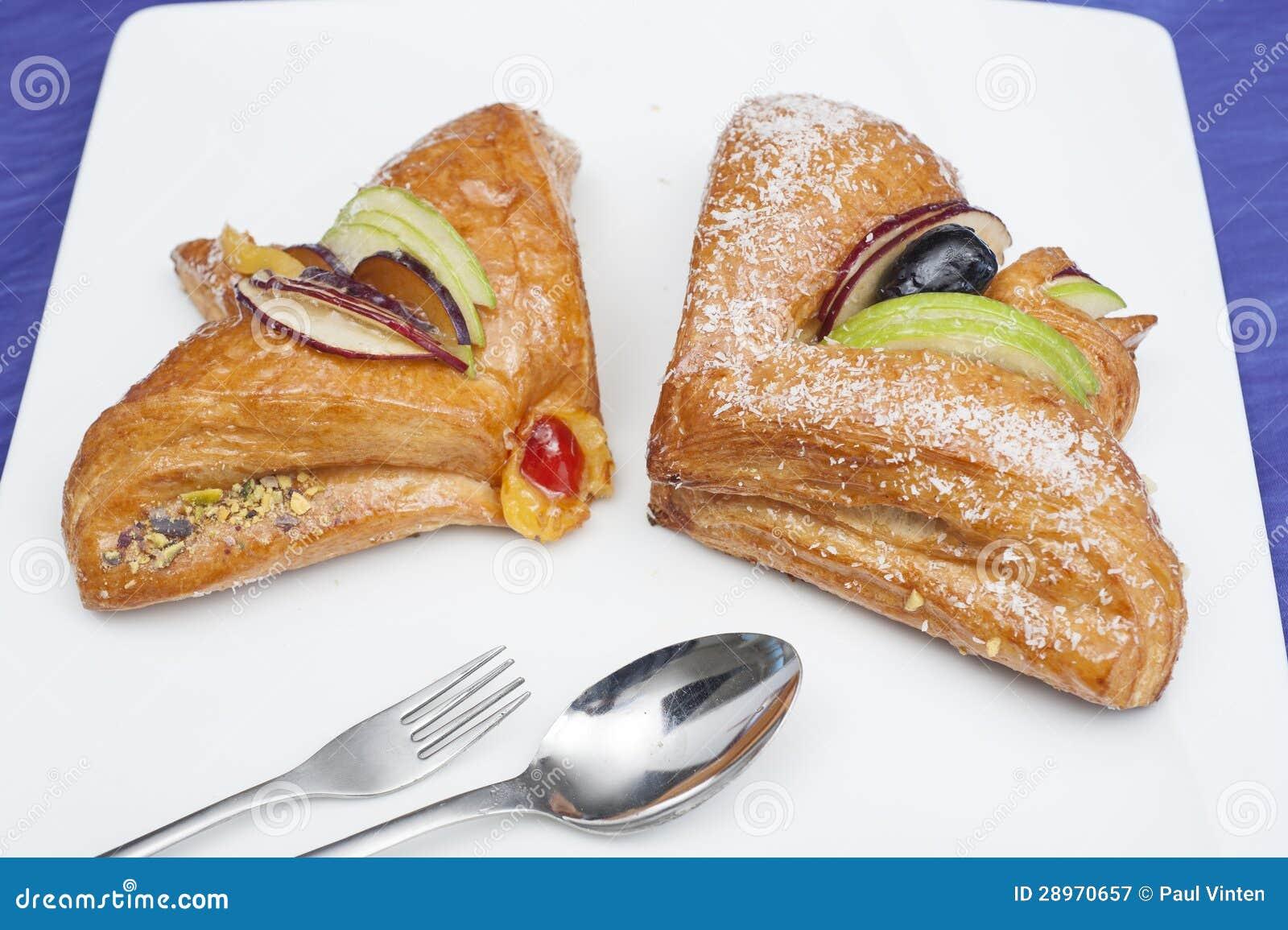Duński ciasto na talerzu