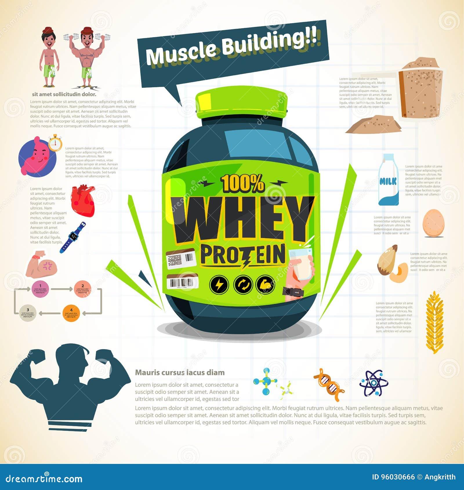 Duża balia serwatki proteina dla ciało budynku Sporta odżywianie W