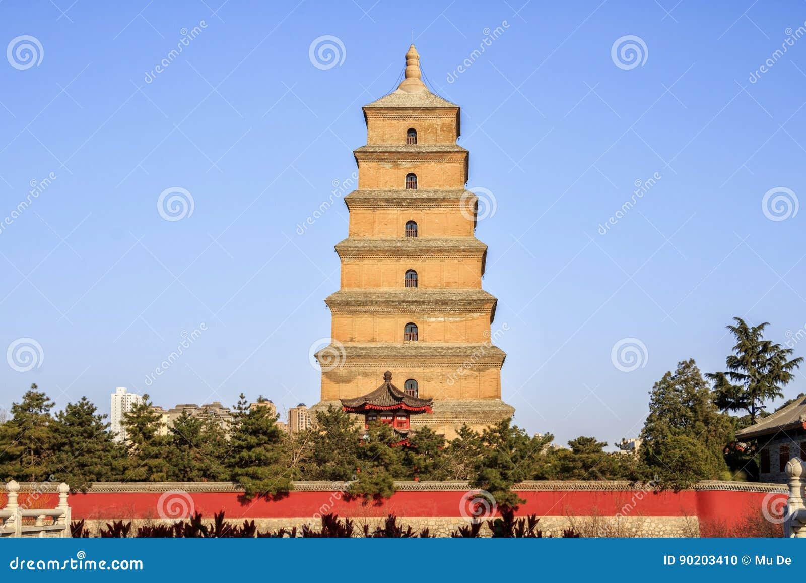 Duża Dzika Gęsia pagoda XI. porcelana