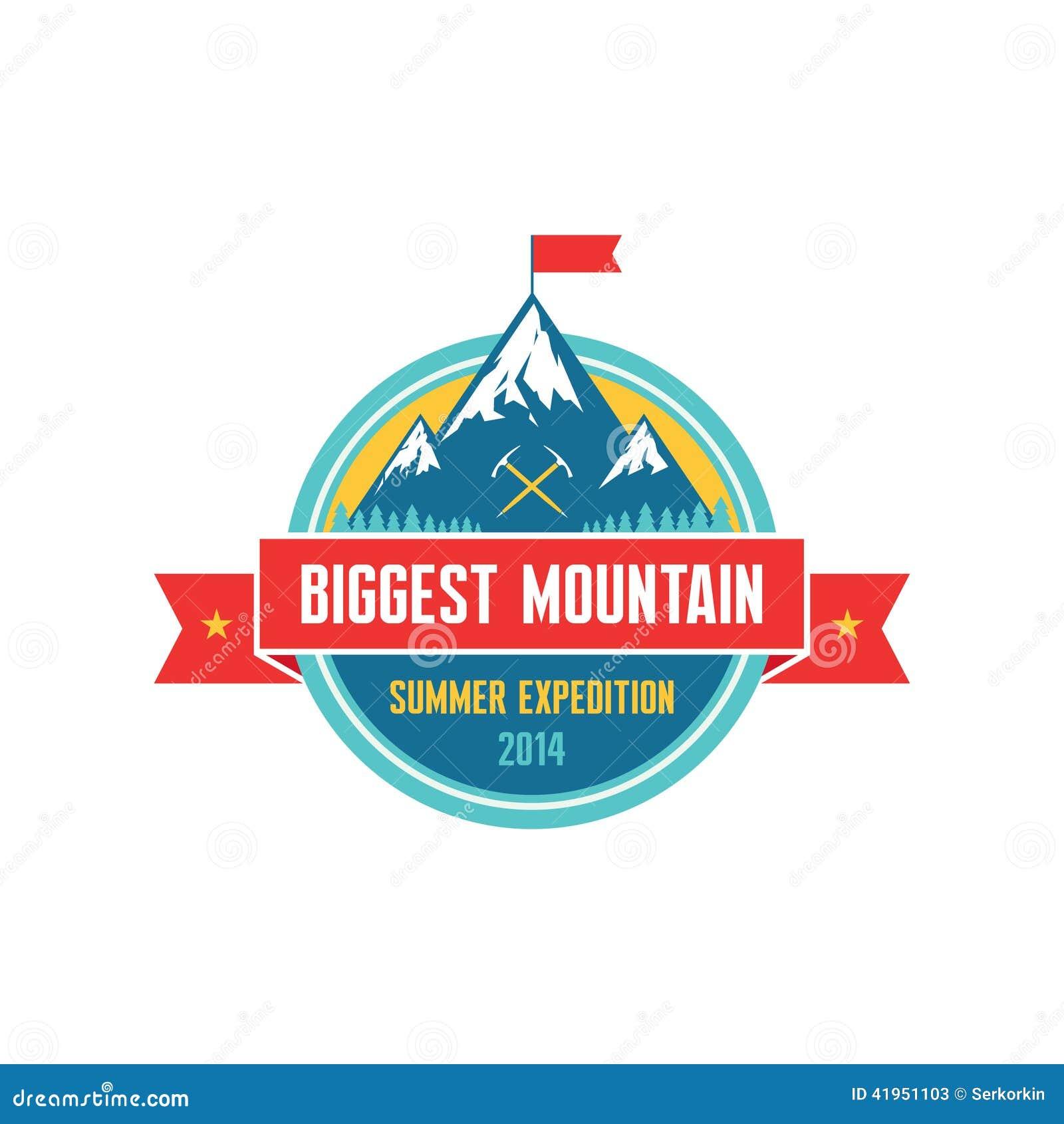 Duża góra Wektorowa odznaka - lato wyprawa 2014 -