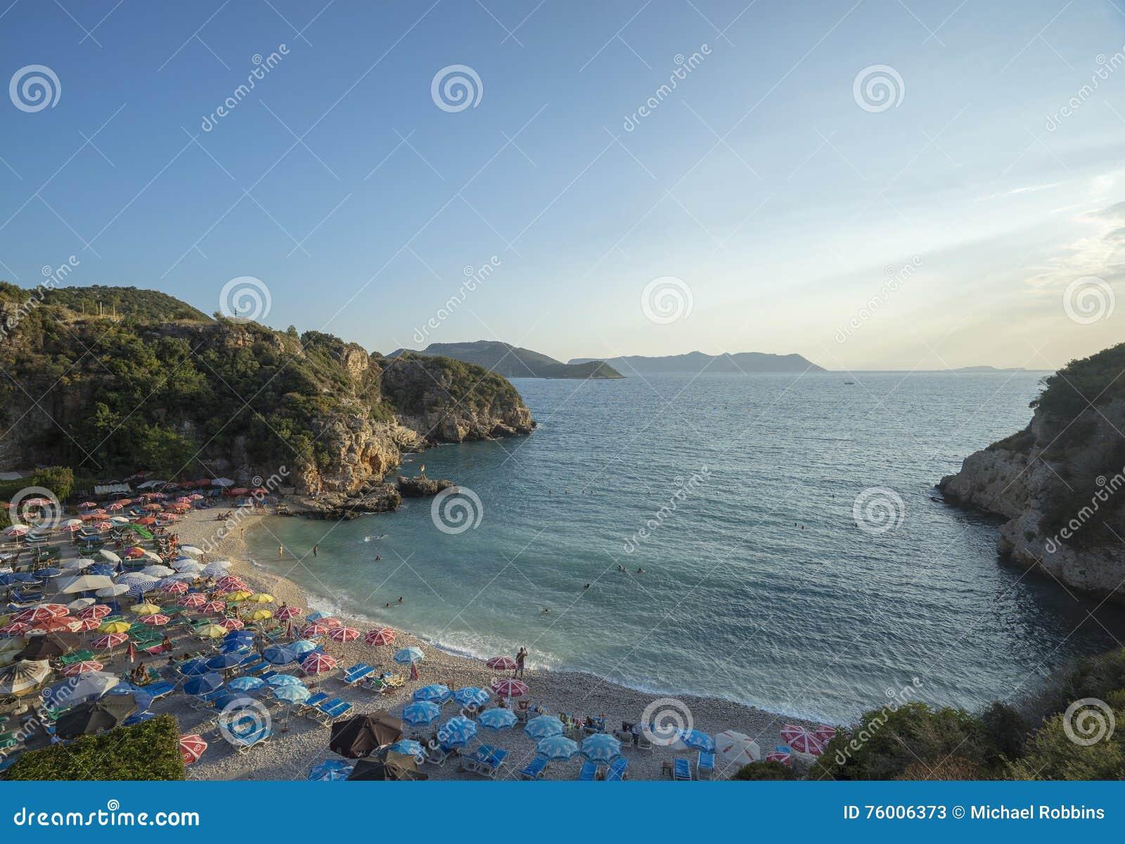 Duża otoczak plaża, Kasa, Turcja