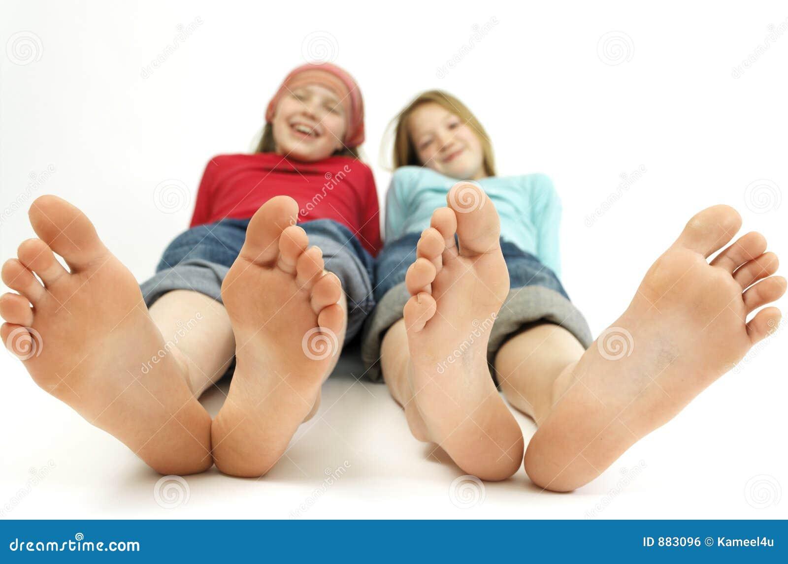 Duża stopa dziewczyna