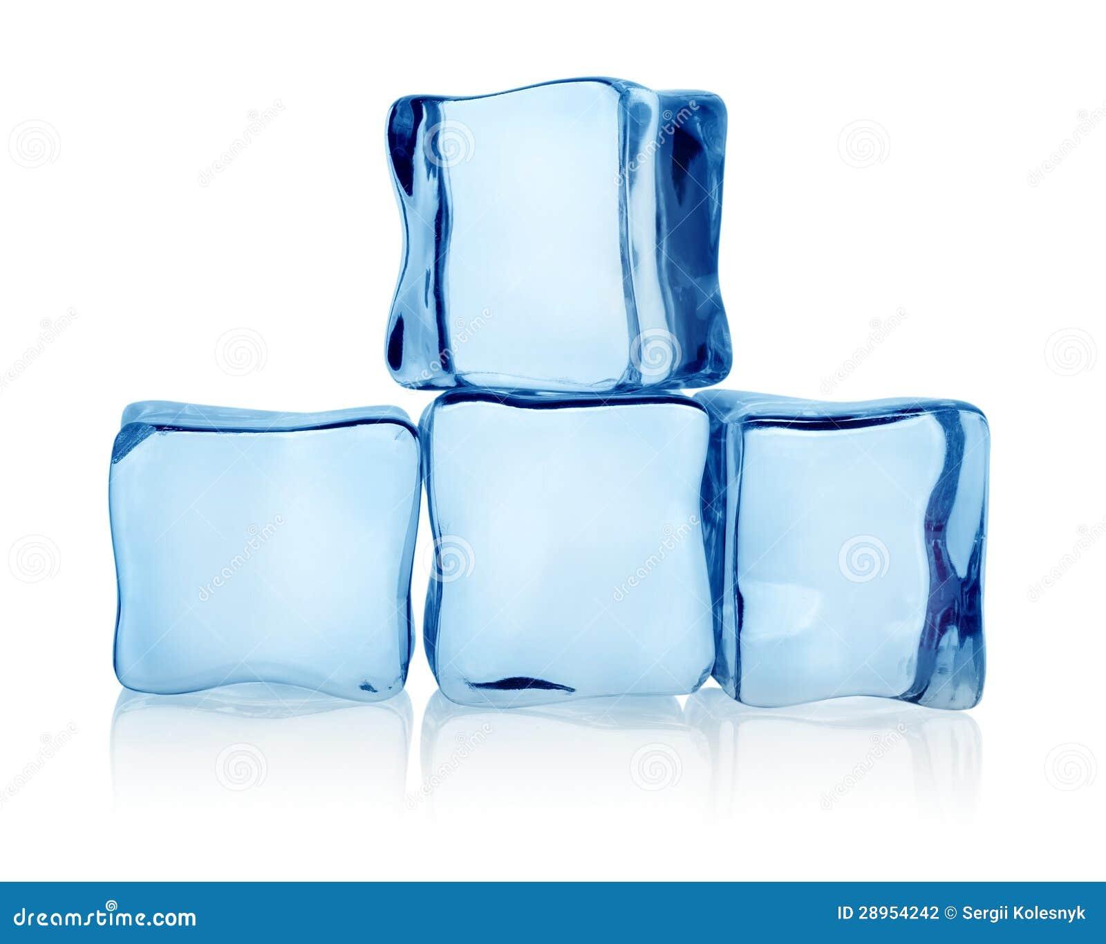 Duże grupowe kostki lodu