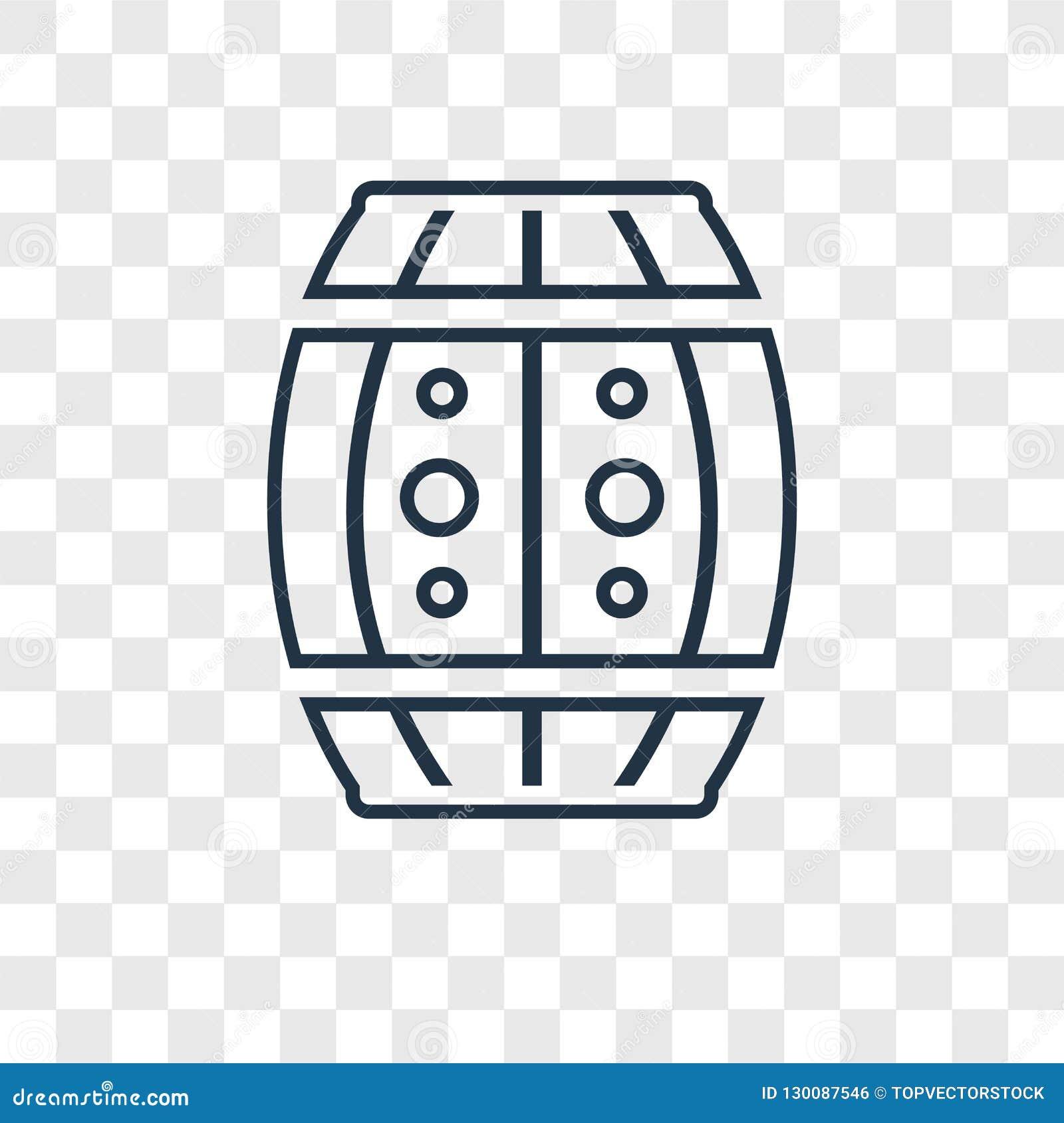 Dużego Lufowego pojęcia wektorowa liniowa ikona odizolowywająca na przejrzystych półdupkach