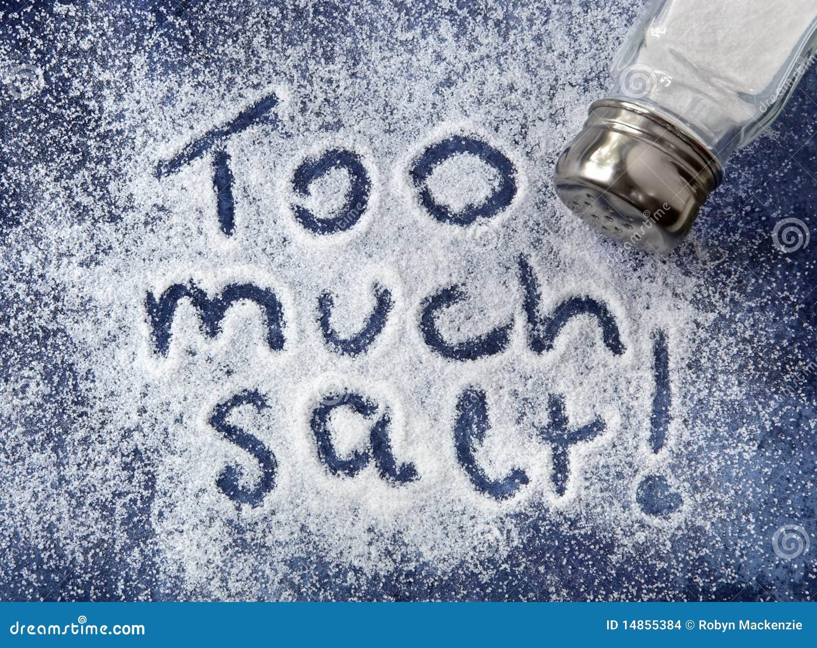 Dużo sól zbyt