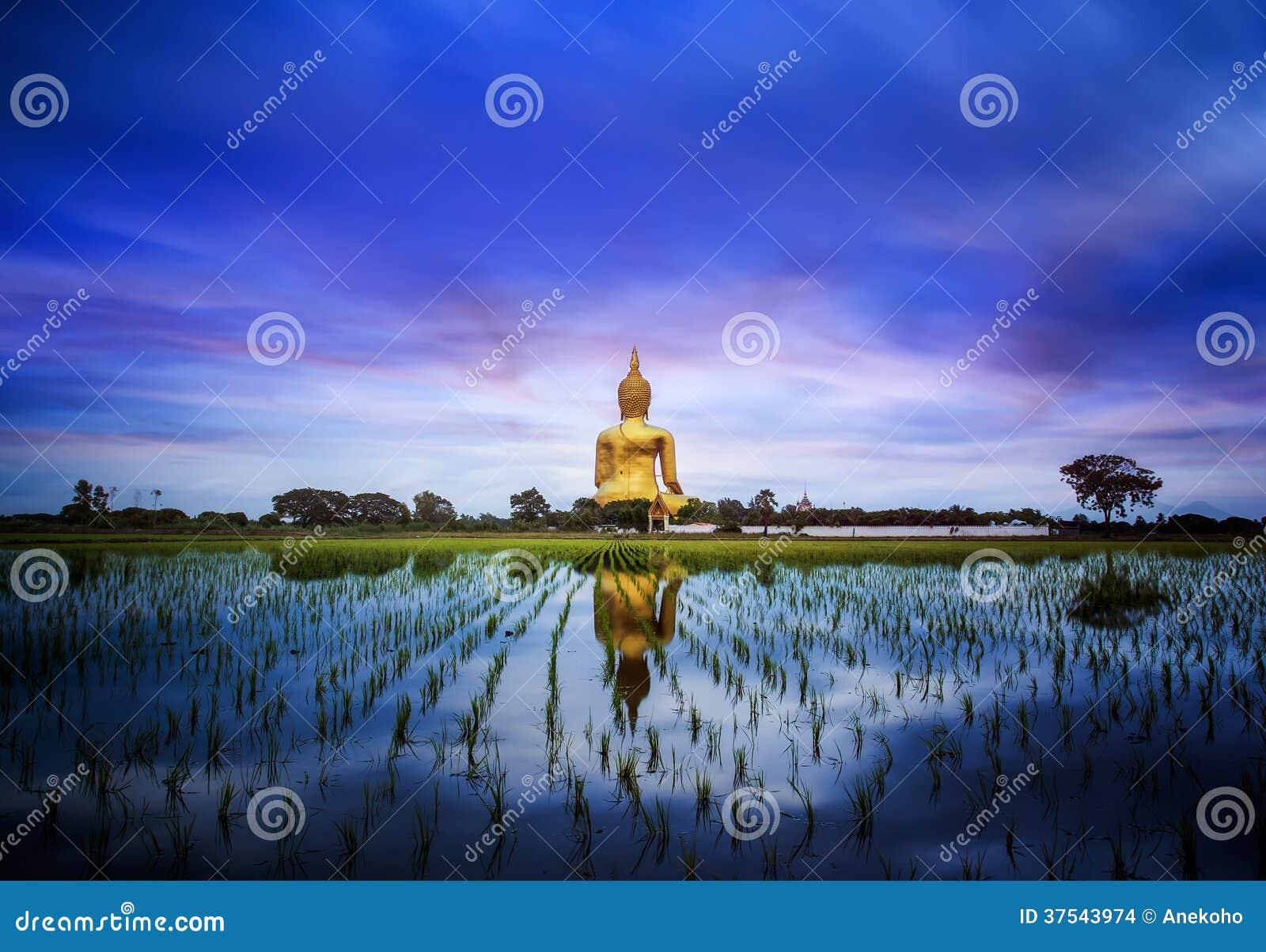 Duży Buddha w Tajlandia