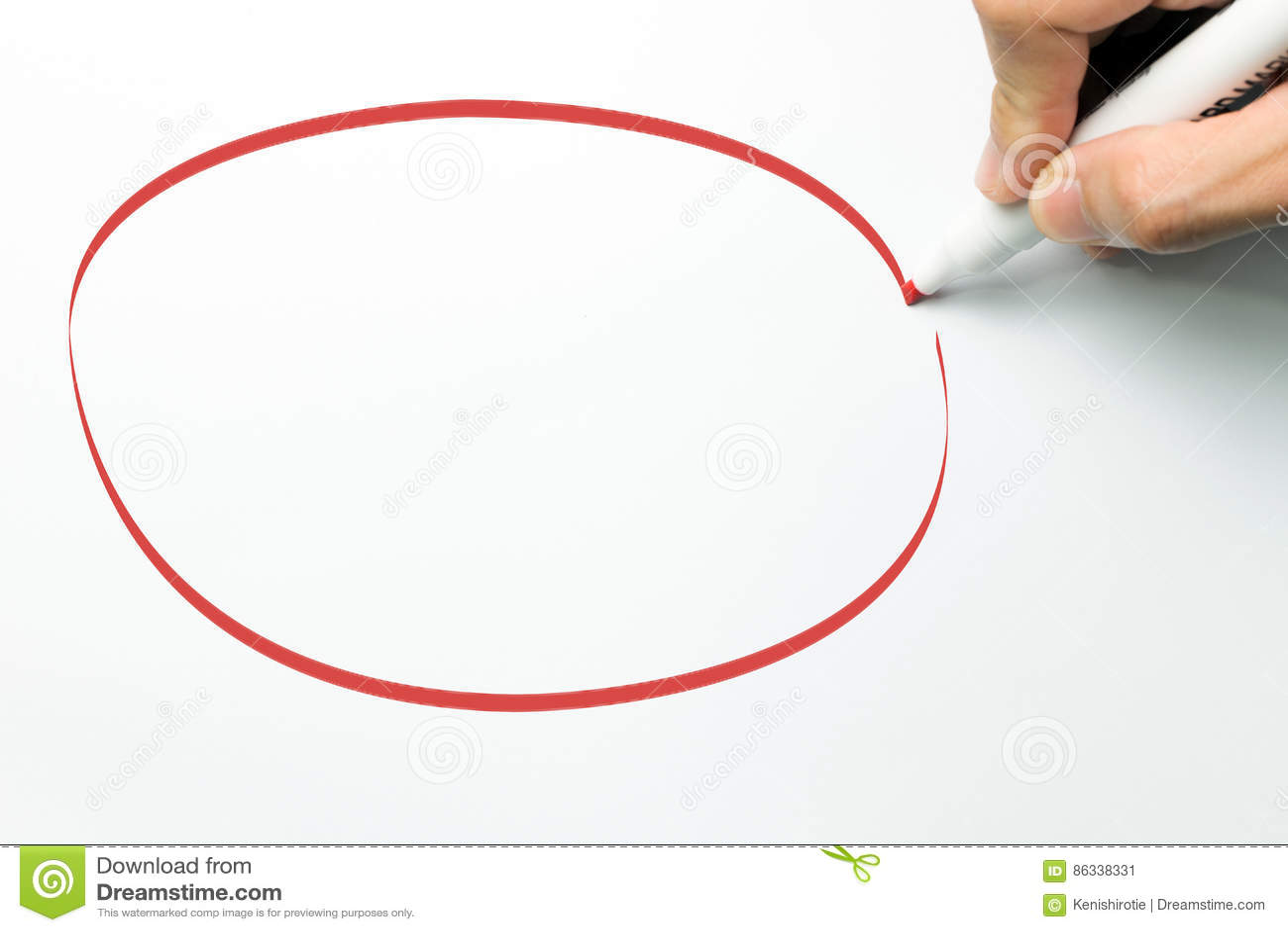 Duży czerwony okrąg