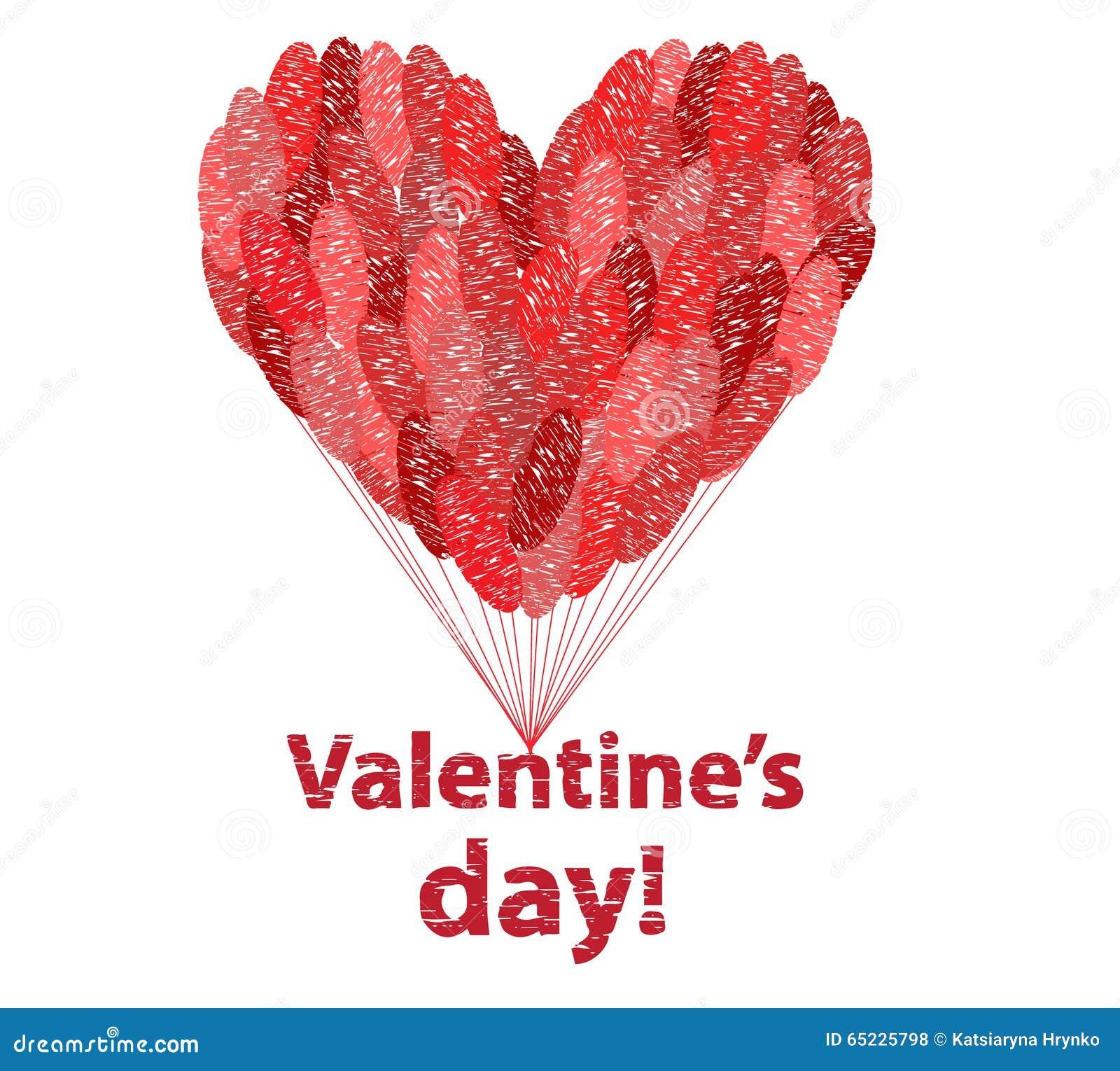 Duży czerwony serce robić balony