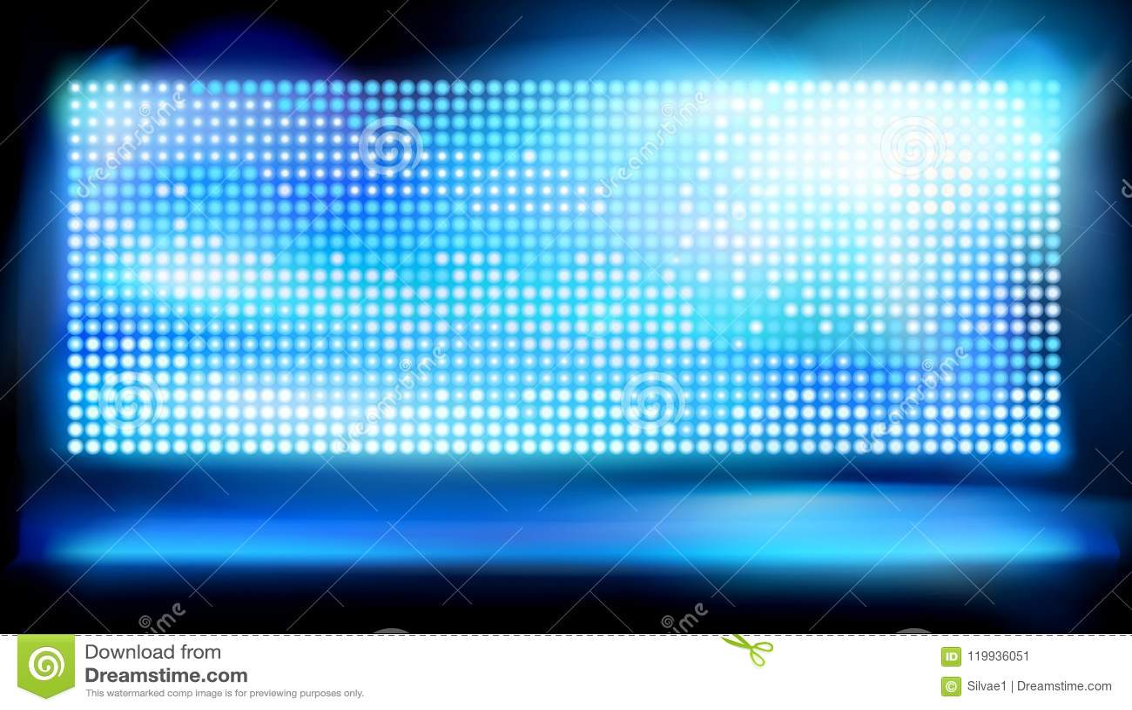 Duży dowodzony projekcyjny ekran również zwrócić corel ilustracji wektora