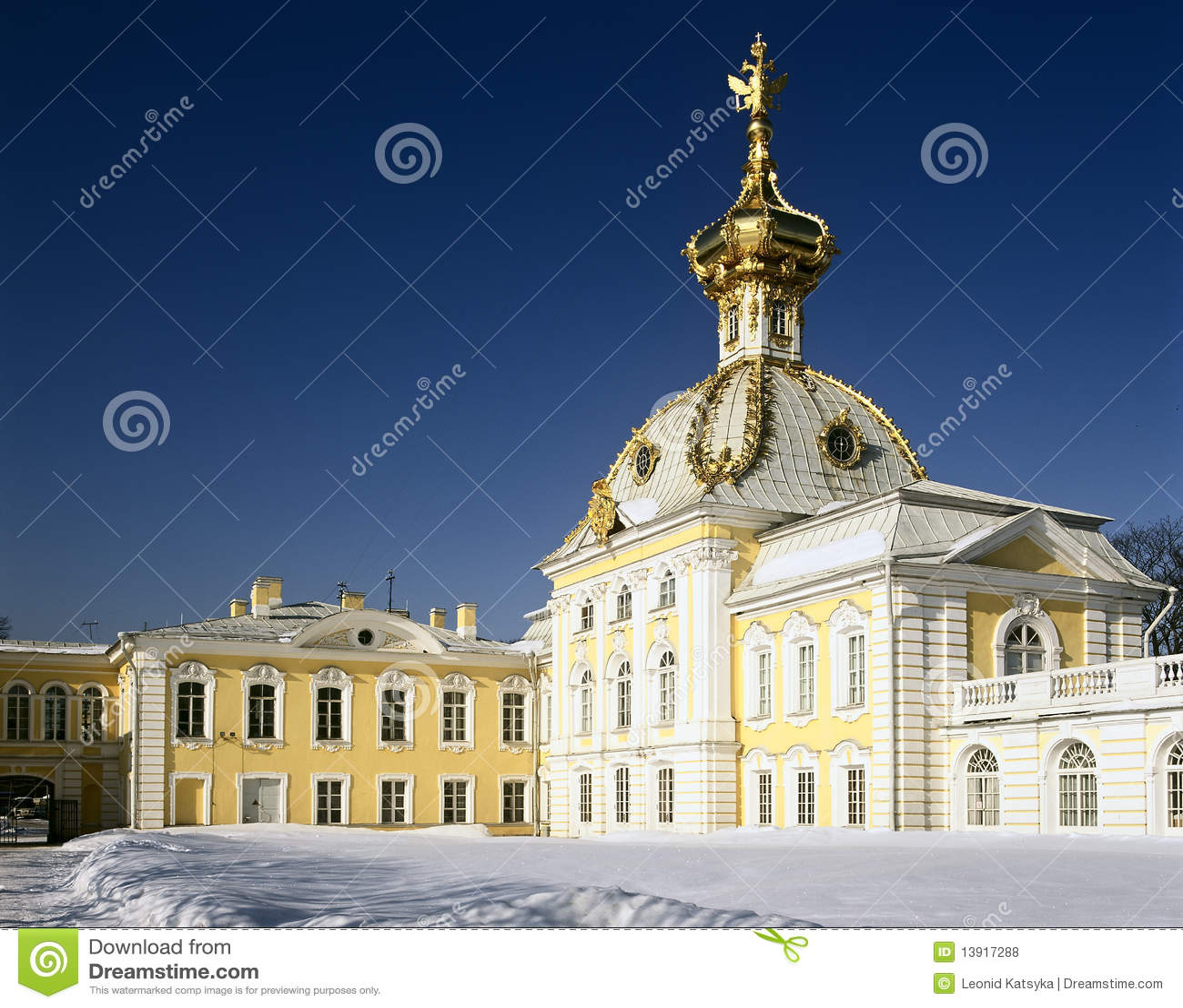 Duży pałac peterhof Petersburg st