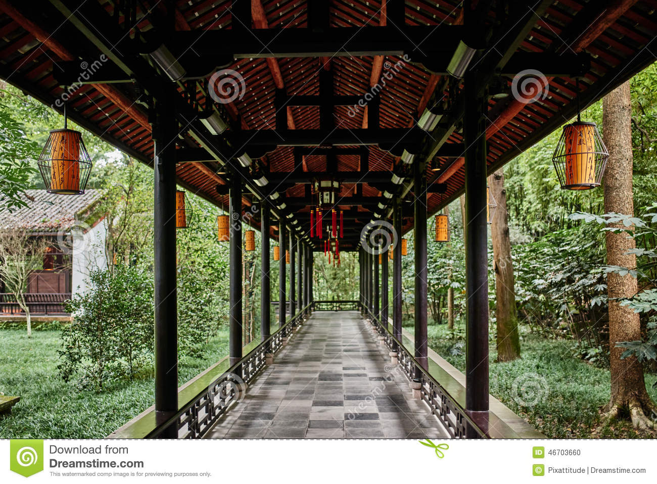 Download Du Fu Thatched Cottage Chengdu Sichuan China Stock Photo - Image of asian, sichuan: 46703660