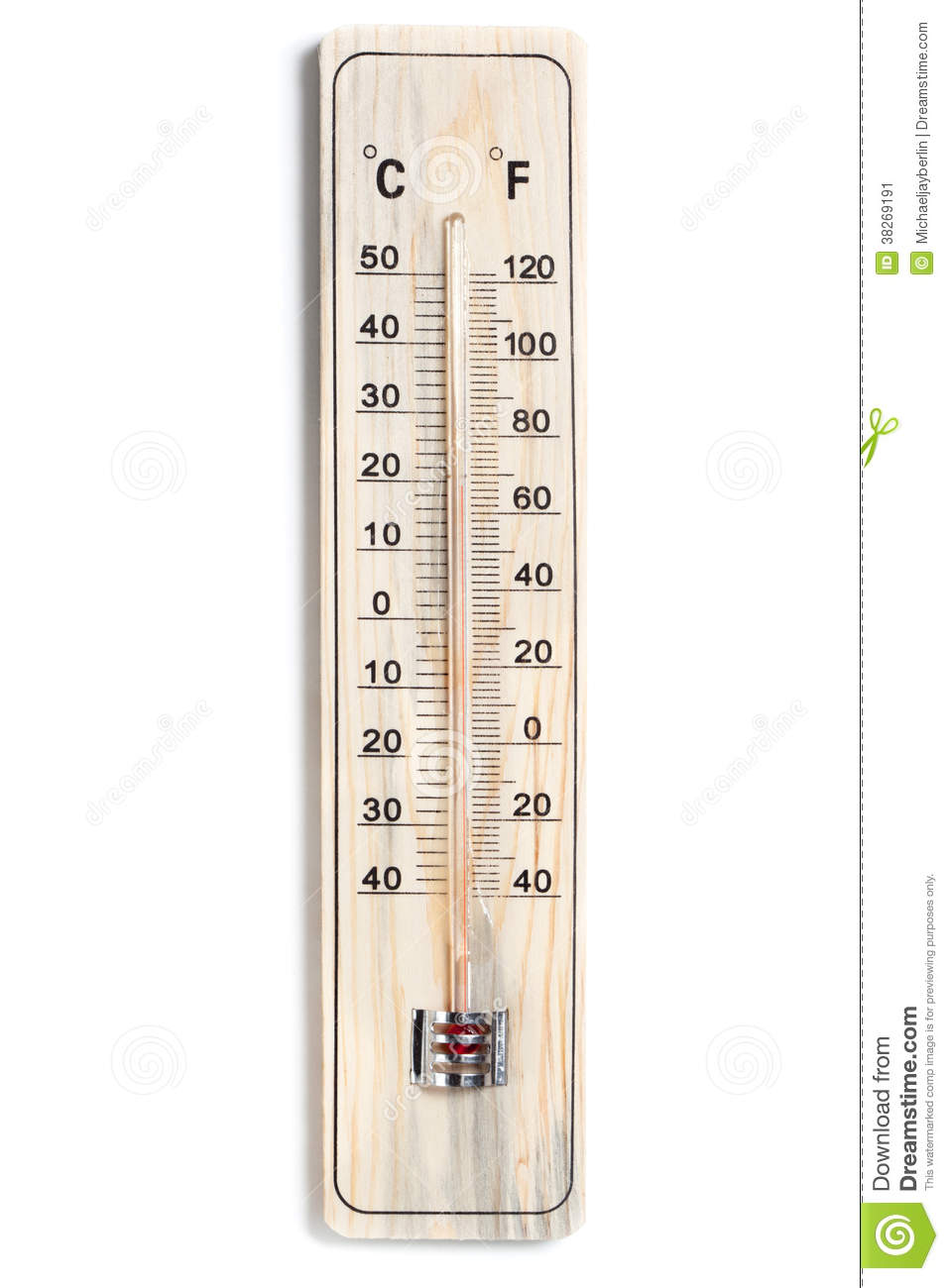 dual celsius fahrenheit scale thermometer stock image image of