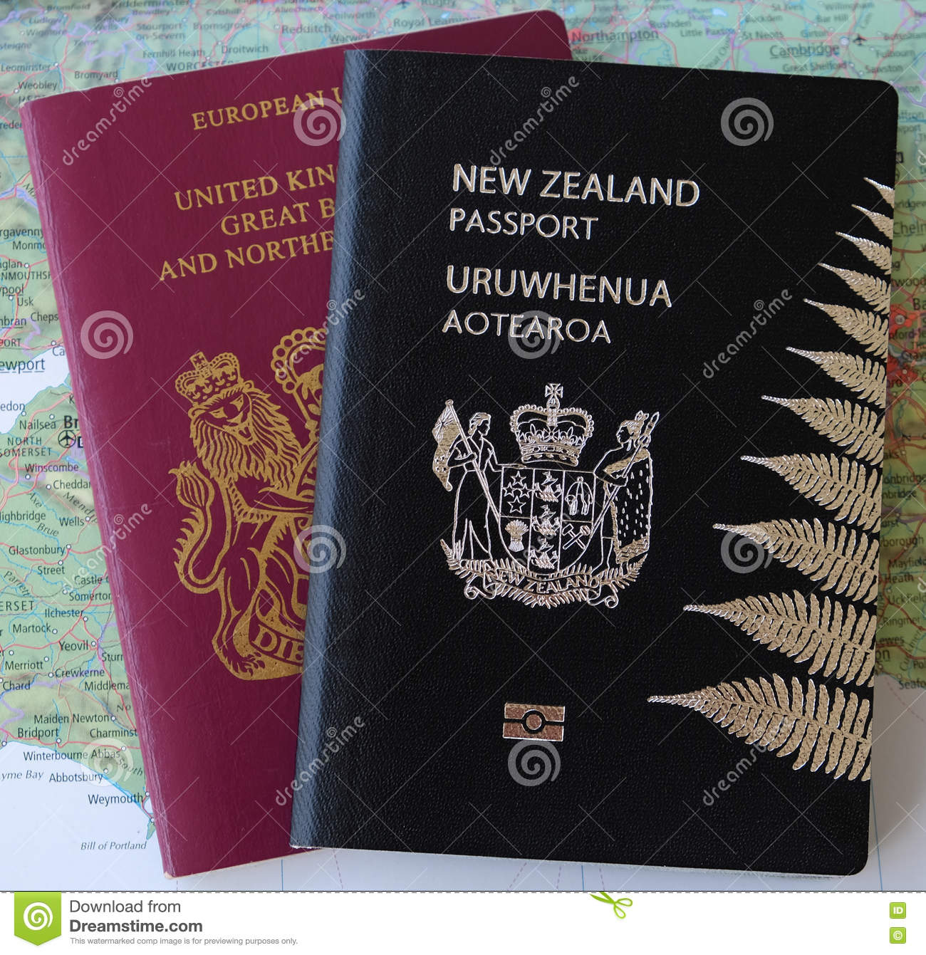 New zealand passports and passport applications with pen stock dual nationality nz and uk passports royalty free stock image falaconquin
