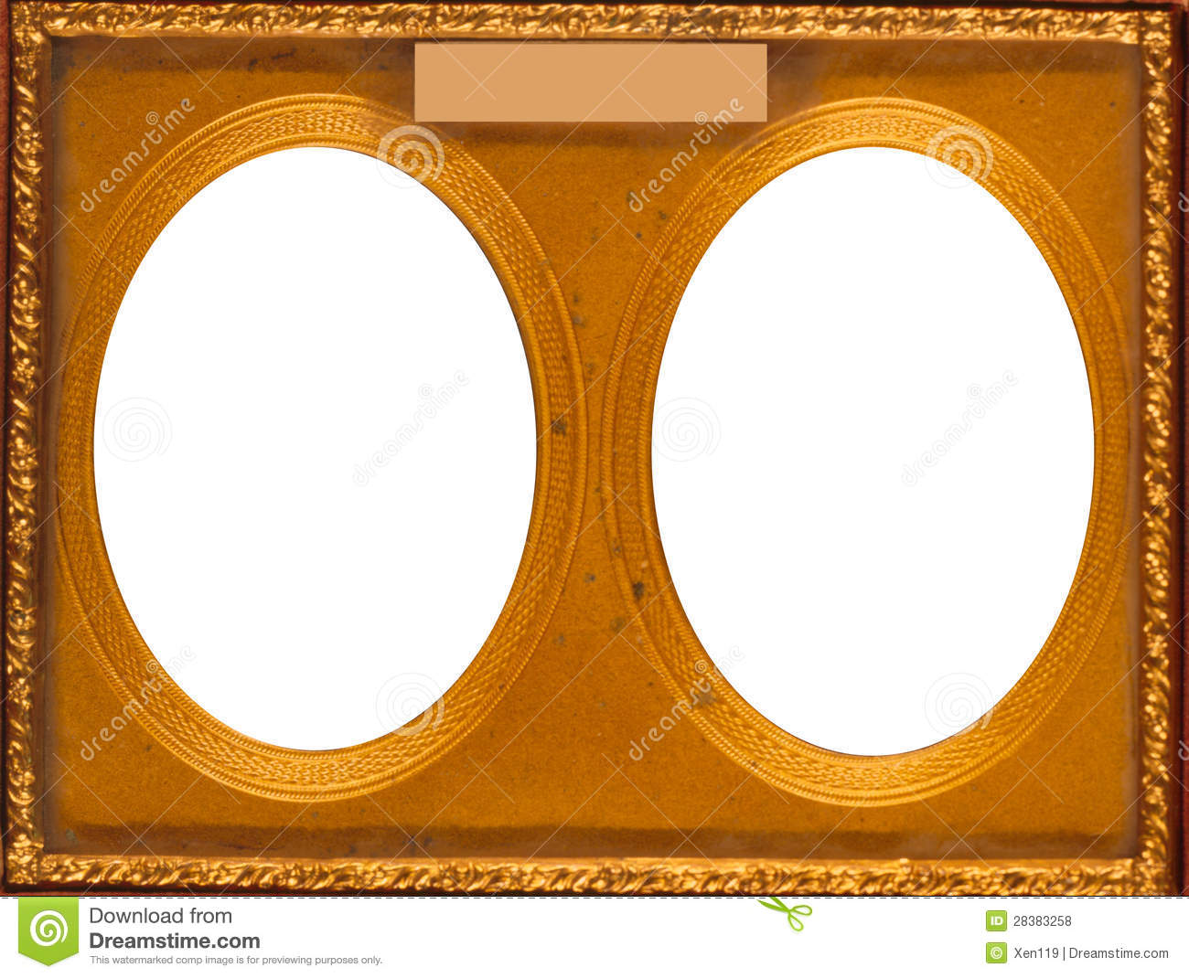 Dual Oval Frame Stock Photo Image Of Decoration Album