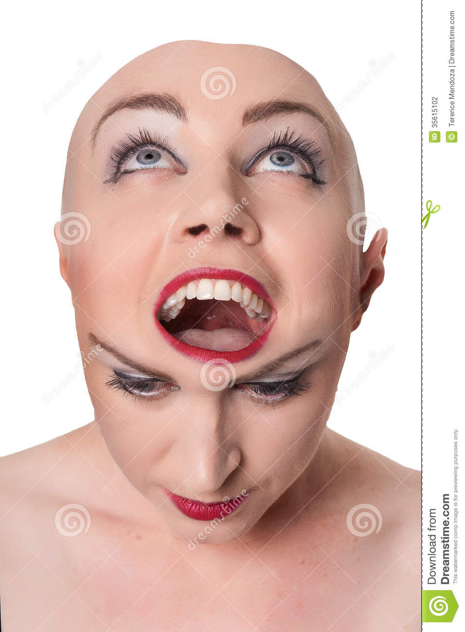 Dual personality concept stock photo image of disorder for Charming personality