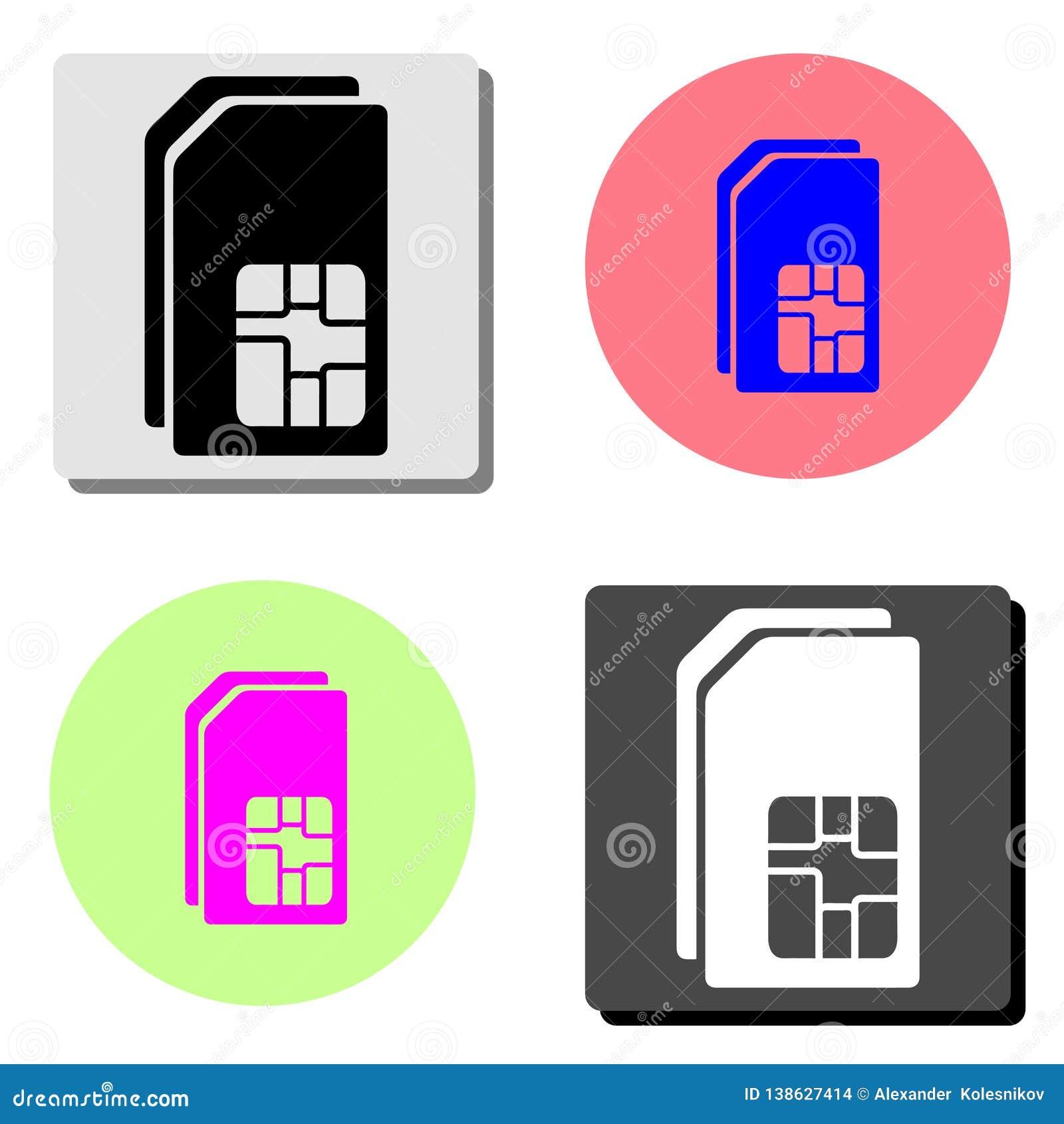 dual sim card. flat vector icon