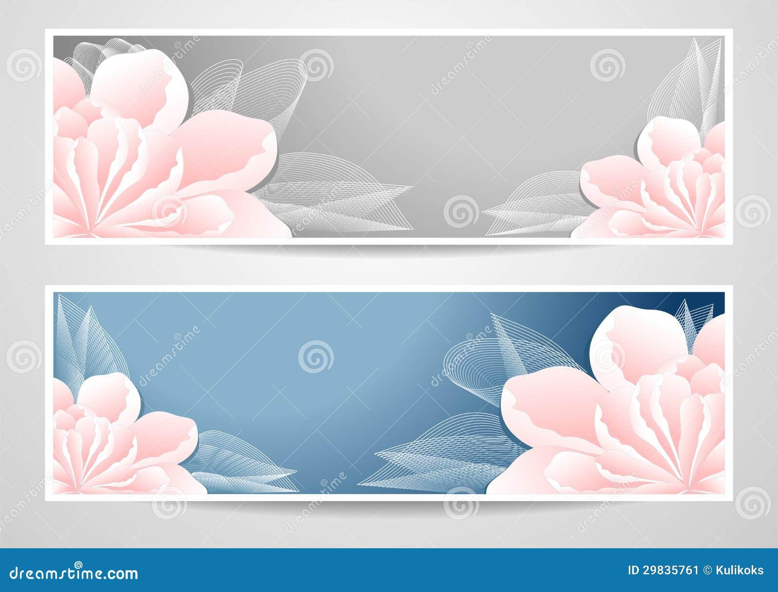 Duas bandeiras das flores no fundo do cinza azul