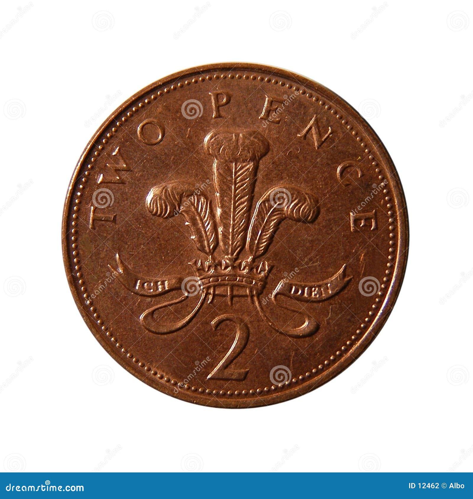 Duas moedas de um centavo