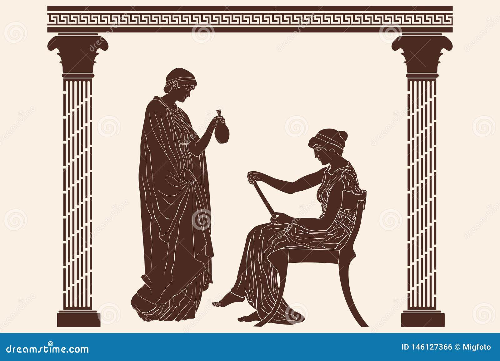 Duas mulheres do grego cl?ssico