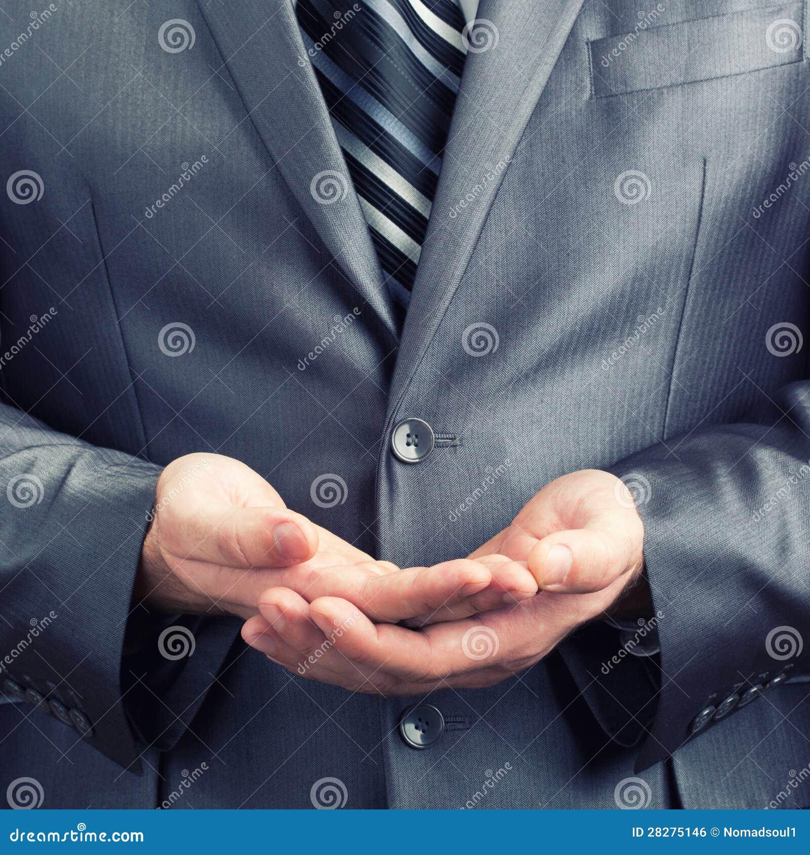 Duas palmas gesticulam junto