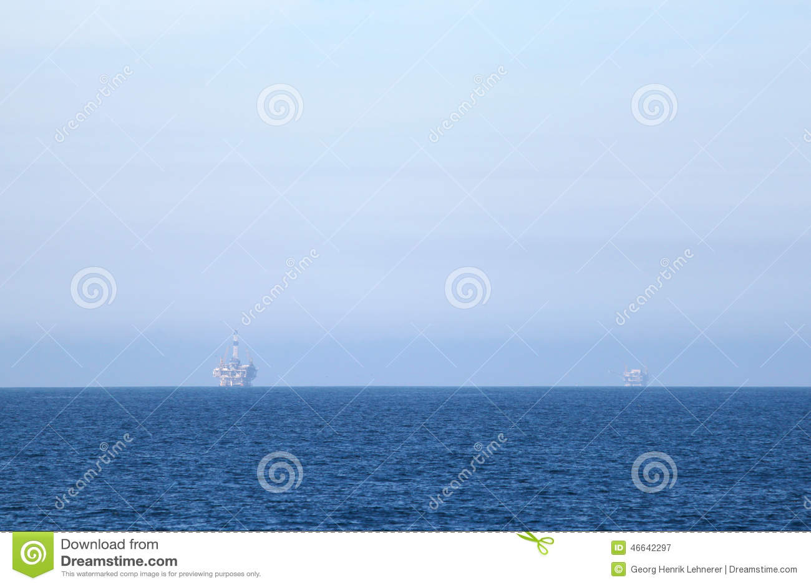Duas plataformas petrolíferas