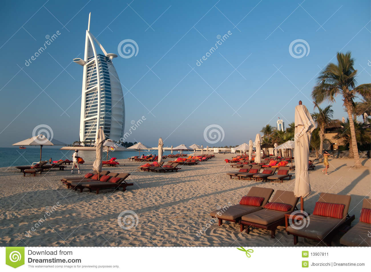 Dubai Beach,UAE Stock Image - Image: 13907811