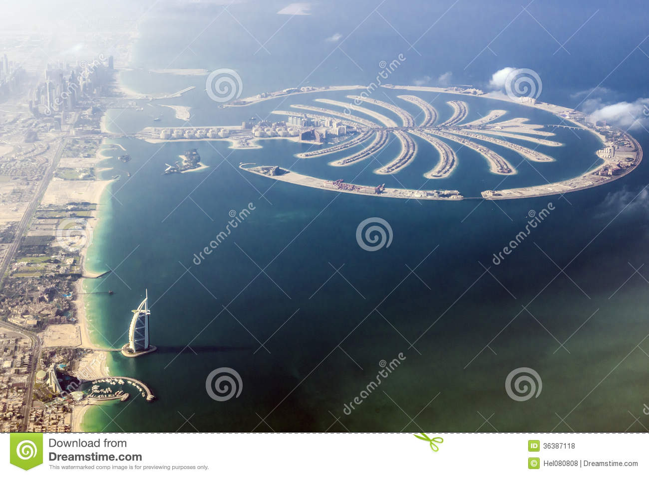 Dubai burj al arab and the palm stock photo image of sand dubai burj al arab and the palm gumiabroncs Gallery
