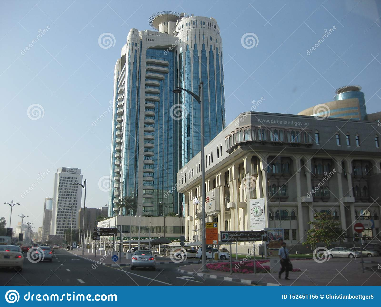 Dubai - business district between airport and harbour area
