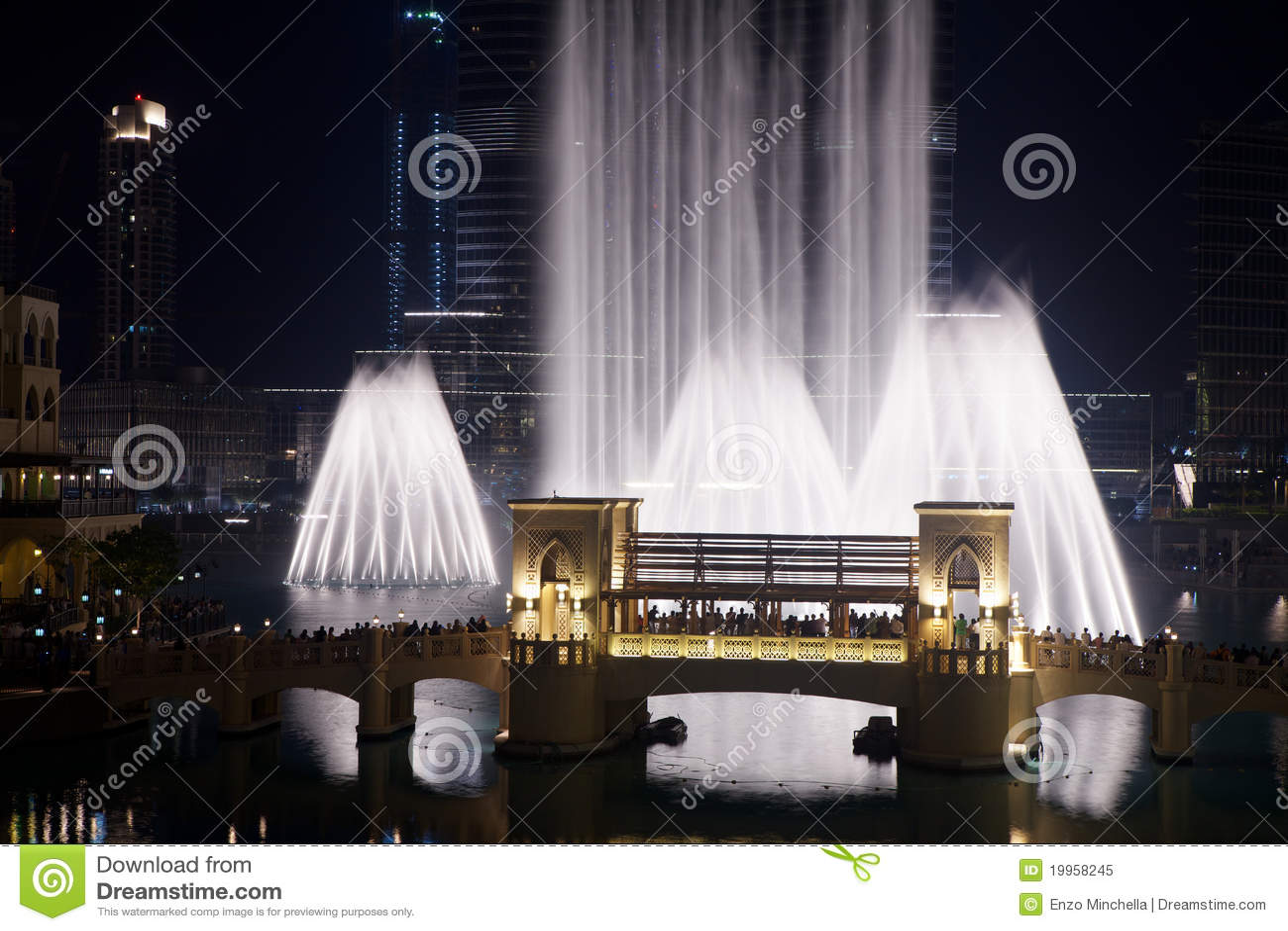 Dubai fontanna