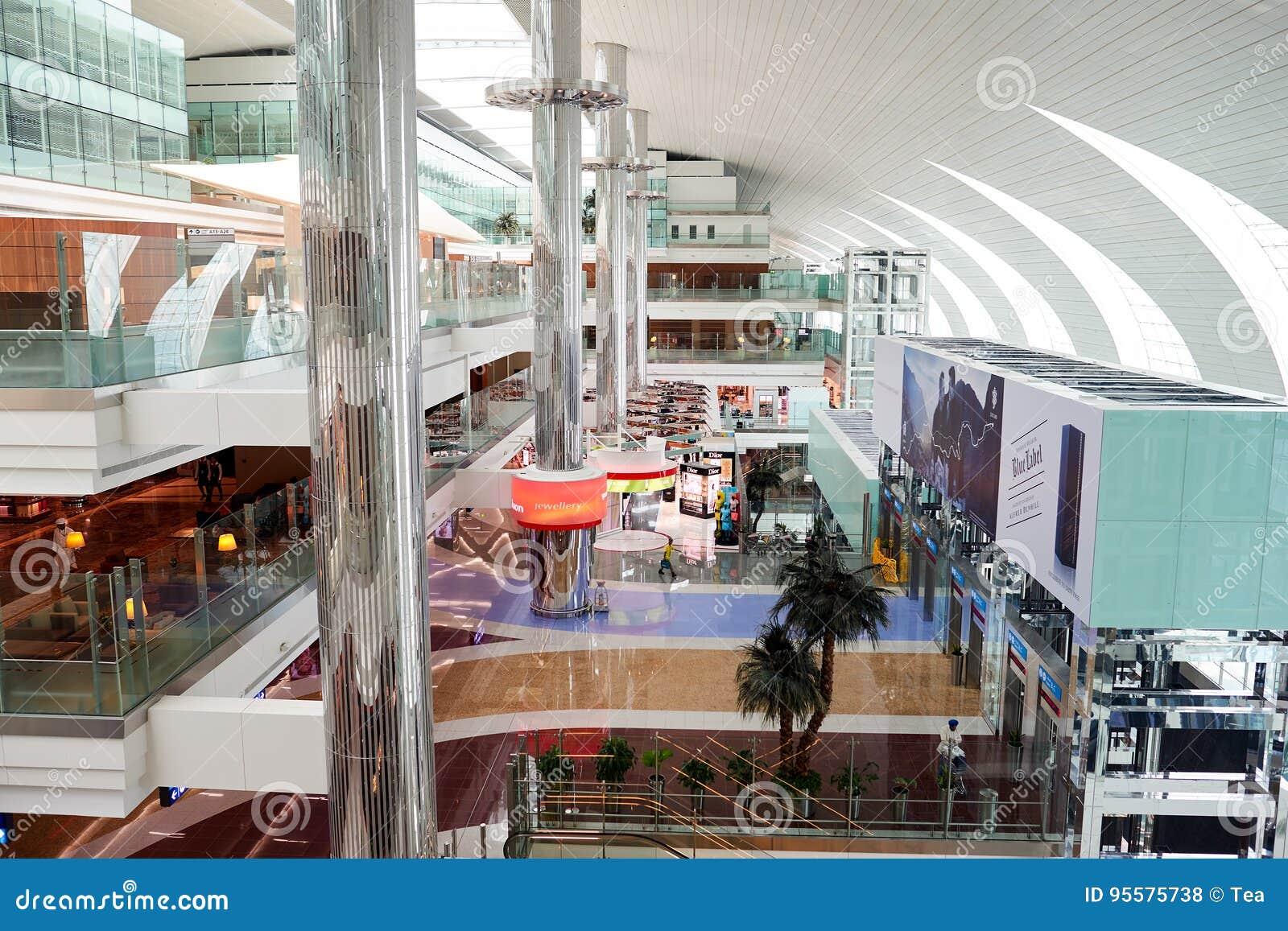 Dubai International lotniska wnętrze