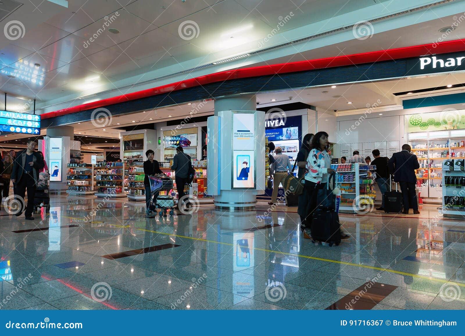 Dubai International lotnisko, odjazdy