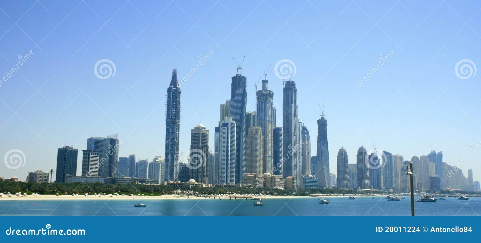Dubai linia horyzontu