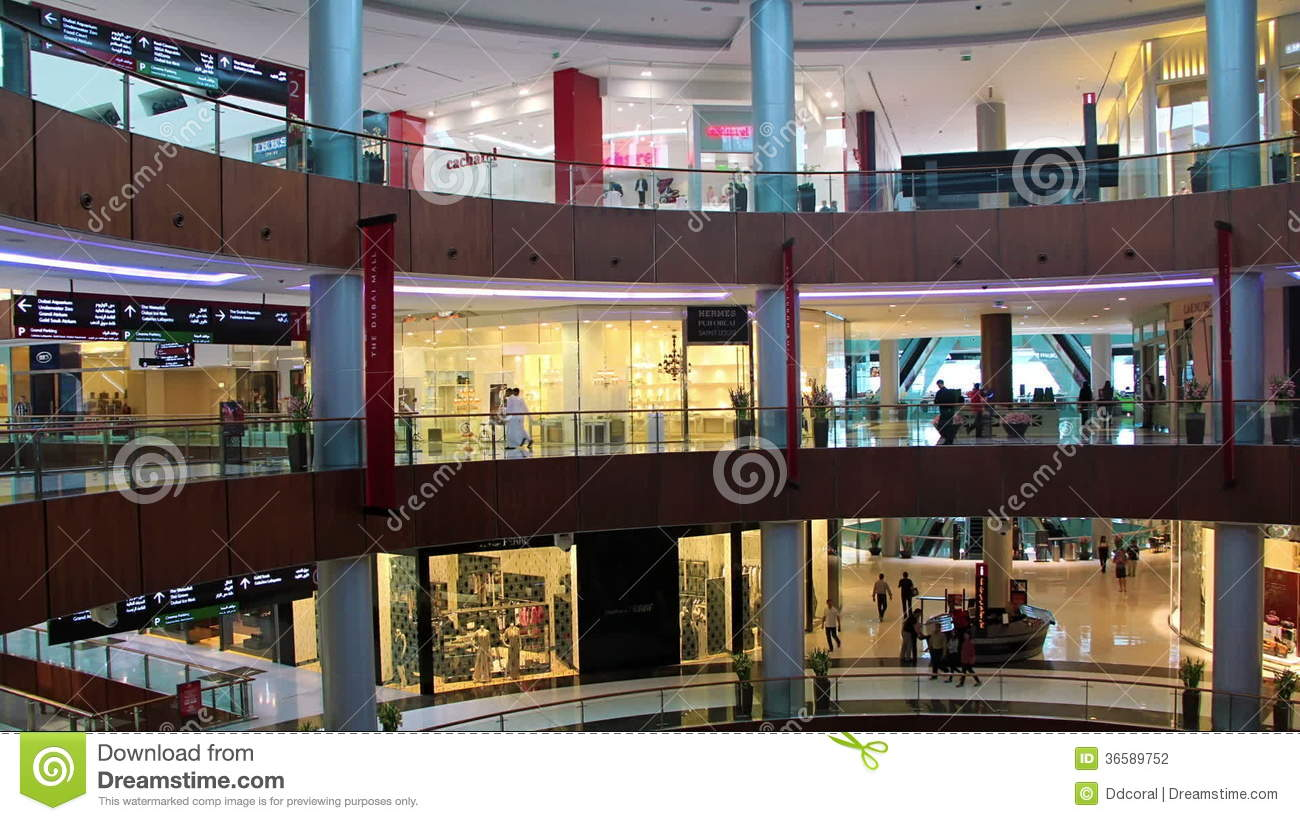 Dubai Mall from inside with buyers, United Arab Emirates  Salesperson,  consumer