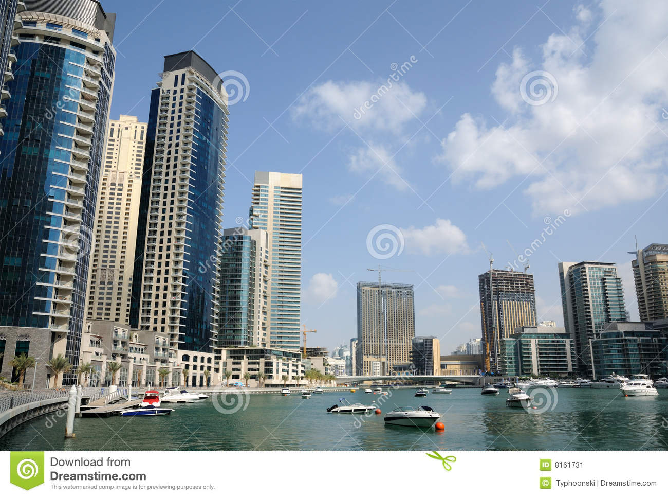 Dubai Marina, United Arab Emirates Stock Image - Image: 8161731