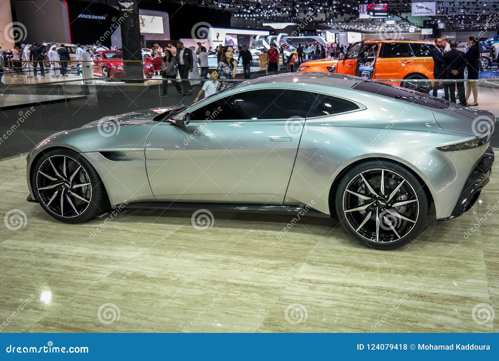 Dubai Motor Aston Martin Corner Displaying Their New Cars Editorial Stock Photo Image Of Design Motor 124079418