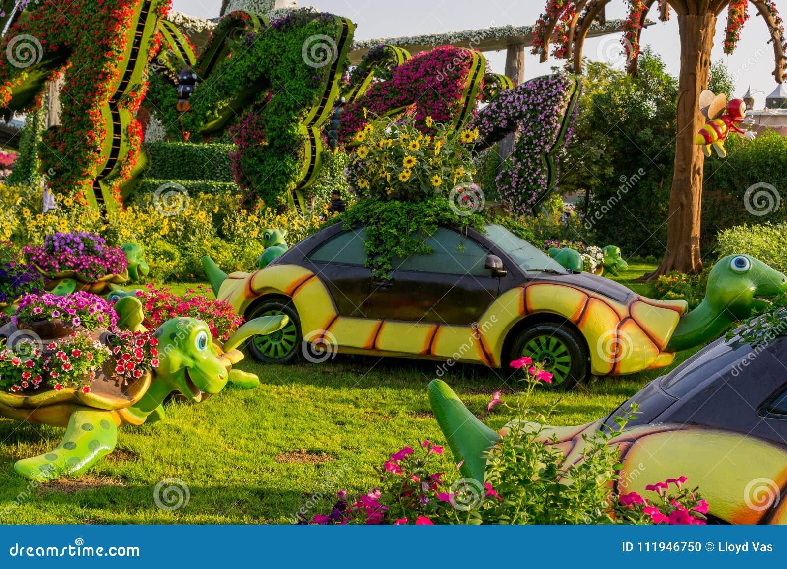 Dubai, 17. November 2017 - Garten des Wunder-UAE in Dubai UAE