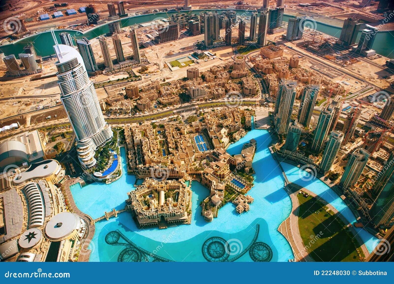 Dubai powietrzny widok