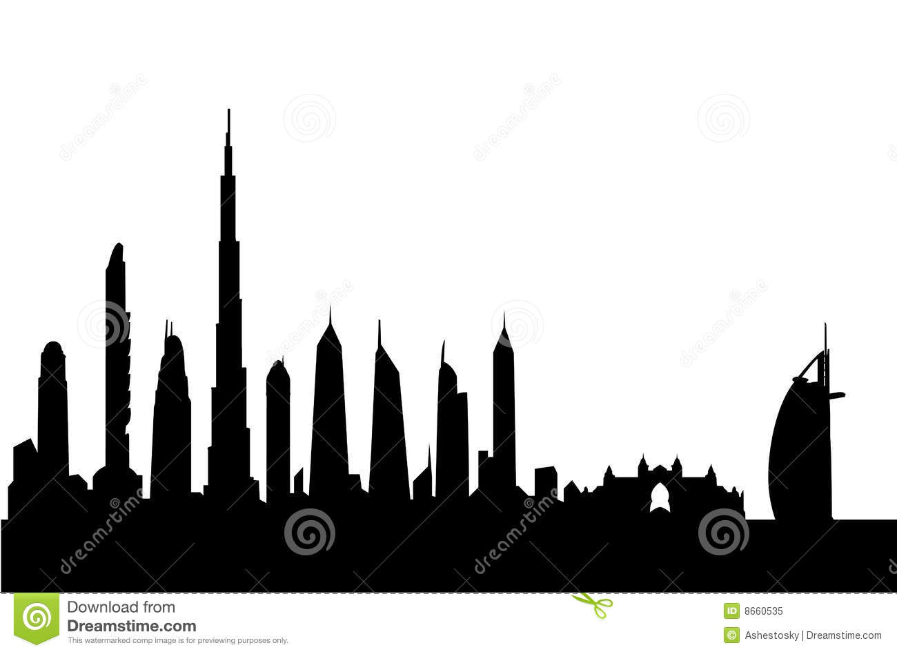 dubai skyline silhouette vector stock vector illustration of rh dreamstime com building silhouette vector free download building silhouette vector png