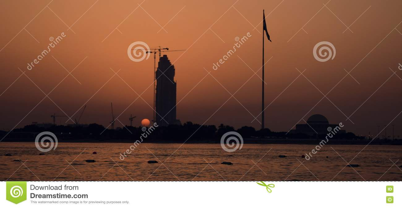 Dubai solnedgång
